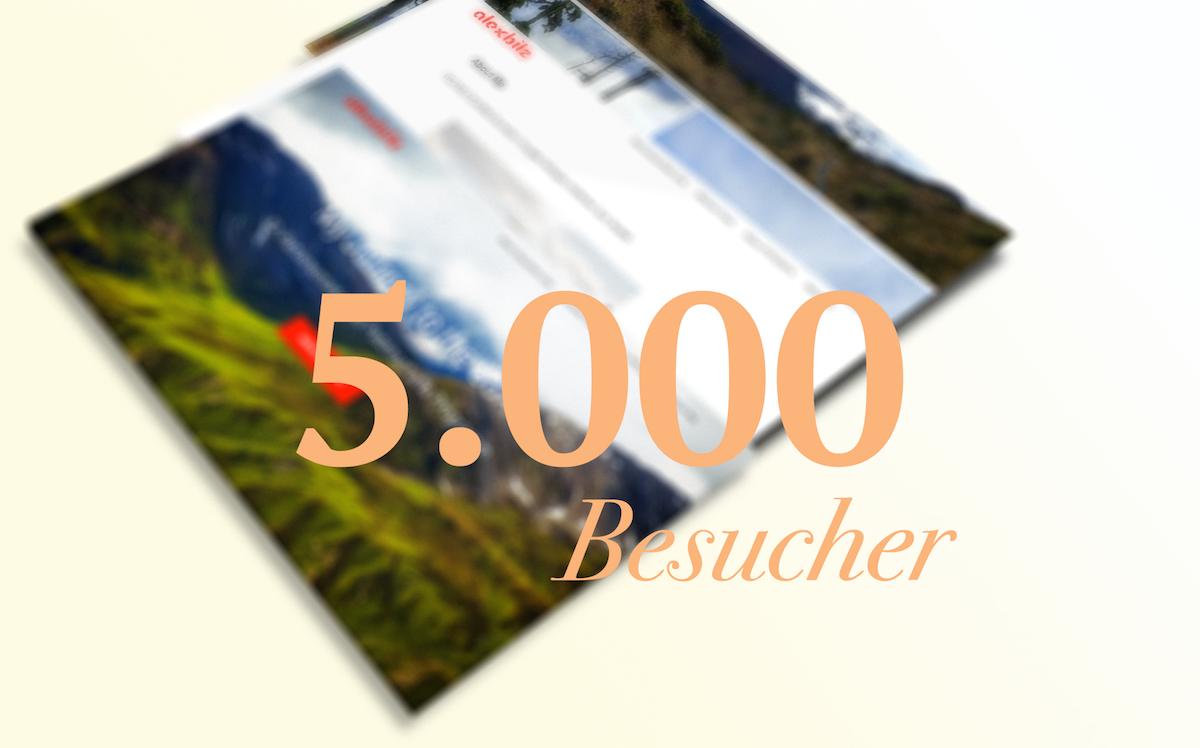5000. Blog Besucher